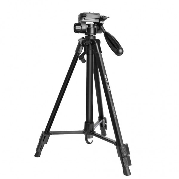 Promate 3-Section Aluminum Alloy Tripod with Rapid Adjustment Central Balance