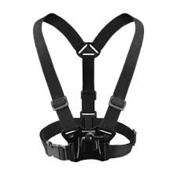 Promate Chest Mount, Adjustable Chest Harness Mount for Action Camera with J Hook Mount