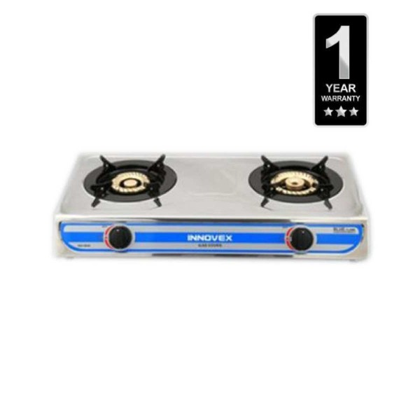 2 Burner Gas Cooktop - Silver