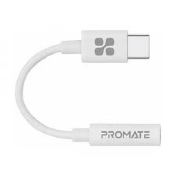 Promate Dynamic Stereo USB-C to 3.5mm AUX Adapter