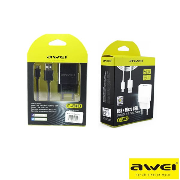 AWEI C-810 Charger & Data Cable ,Micro USB