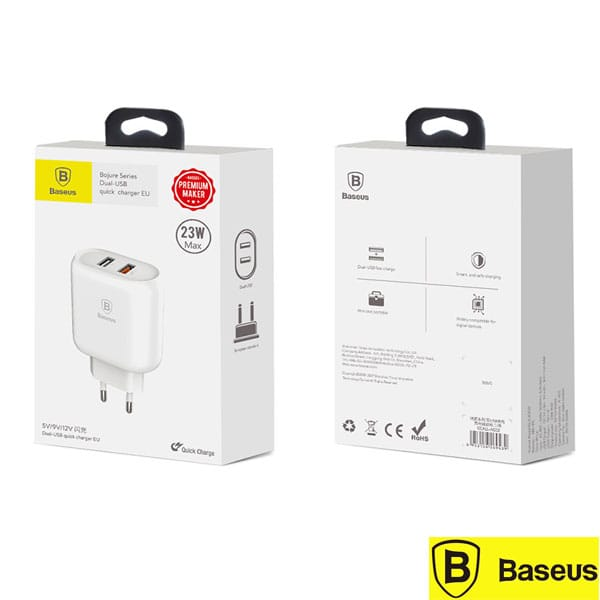 Baseus Quick Charge 3.0 Dual USB Phone Charger